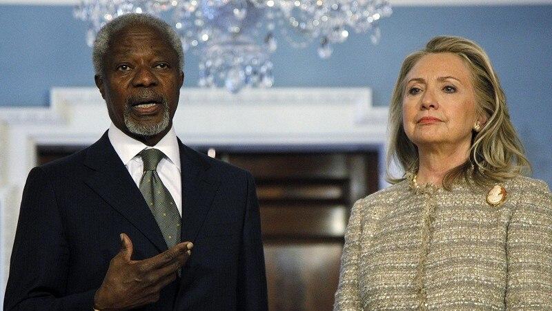Annan Meets Clinton, Syria Violence Kills 17