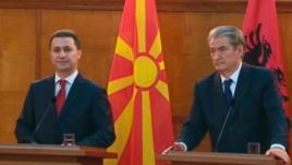 Gruevski në Tiranë, plagët e konfliktit të 2001,ende të freskëta